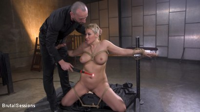 Photo number 10 from Big Titted Goddess Ryan Keely Fucked, Disciplined in Rope Bondage shot for Brutal Sessions on Kink.com. Featuring Stirling Cooper  and Ryan Keely in hardcore BDSM & Fetish porn.