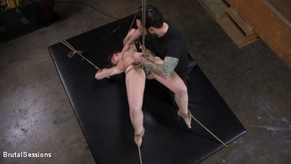 Photo number 3 from Euro-Teen BDSM Whore Luna Rival Anal Fucked in Brutal Rope Bondage! shot for Brutal Sessions on Kink.com. Featuring Tommy Pistol and Luna Rival in hardcore BDSM & Fetish porn.
