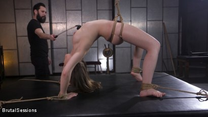 Photo number 2 from Euro-Teen BDSM Whore Luna Rival Anal Fucked in Brutal Rope Bondage! shot for Brutal Sessions on Kink.com. Featuring Tommy Pistol and Luna Rival in hardcore BDSM & Fetish porn.