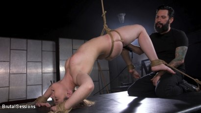 Photo number 4 from Euro-Teen BDSM Whore Luna Rival Anal Fucked in Brutal Rope Bondage! shot for Brutal Sessions on Kink.com. Featuring Tommy Pistol and Luna Rival in hardcore BDSM & Fetish porn.