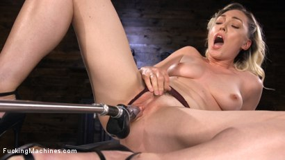 Lily LaBeau is Power Fucked with the Machines