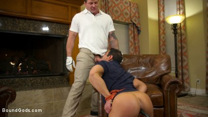 Photo number 10 from Valentine's Visitors: Draven Navarro Gets Whipped and DP'd shot for Bound Gods on Kink.com. Featuring Colby Jansen, Draven Navarro and Sebastian Keys in hardcore BDSM & Fetish porn.