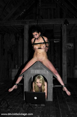 Photo number 2 from Princess Donna Live, Part 2 shot for Device Bondage on Kink.com. Featuring Princess Donna Dolore and Sarah Jane Ceylon in hardcore BDSM & Fetish porn.
