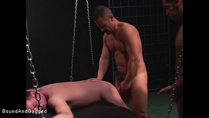 Photo number 9 from Mario's Boy: Fucked shot for Bound And Gagged on Kink.com. Featuring Sean Patrick, Doug Jeffries and Mario Ortiz in hardcore BDSM & Fetish porn.