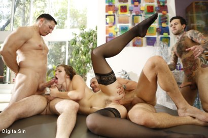 Photo number 21 from Ella Says The More Cocks The Better shot for Digital Sin on Kink.com. Featuring Ella Nova , John Strong, Mick Blue, Small Hands and Tommy Pistol in hardcore BDSM & Fetish porn.