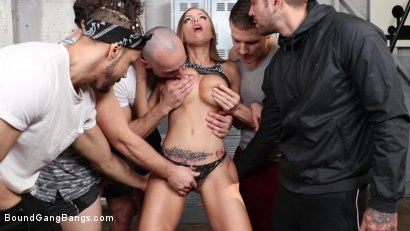 Photo number 3 from Britney Amber is Gettin' Pumped shot for Bound Gang Bangs on Kink.com. Featuring Britney Amber, Donny Sins, Codey Steele , Stirling Cooper , Juan Lucho and Robby Echo in hardcore BDSM & Fetish porn.