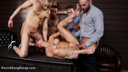 Photo number 6 from School of Hard Cocks: Hot Teacher Disciplined by Students, Headmaster shot for Bound Gang Bangs on Kink.com. Featuring Donny Sins, Codey Steele , Holly Lace , Stirling Cooper , Anthony Gaultier  and Eddie Jaye in hardcore BDSM & Fetish porn.