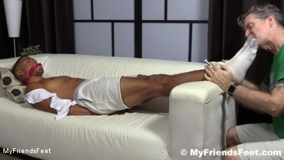 Photo number 5 from Mikey Tied Up & Worshiped shot for My Friends Feet on Kink.com. Featuring Mike Maverick in hardcore BDSM & Fetish porn.