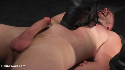 Photo number 17 from Brian Bonds: Locked Down shot for Bound Gods on Kink.com. Featuring Jason Collins  and Brian Bonds in hardcore BDSM & Fetish porn.