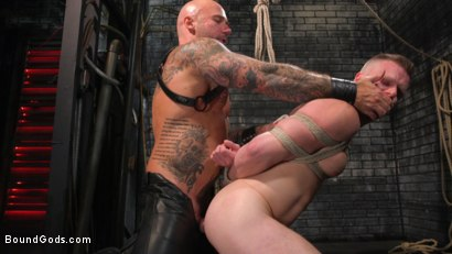 Photo number 33 from Brian Bonds: Locked Down shot for Bound Gods on Kink.com. Featuring Jason Collins  and Brian Bonds in hardcore BDSM & Fetish porn.