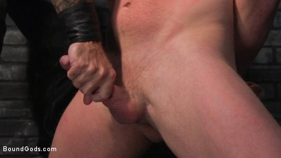 Photo number 7 from Brian Bonds: Locked Down shot for Bound Gods on Kink.com. Featuring Jason Collins  and Brian Bonds in hardcore BDSM & Fetish porn.