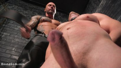 Photo number 9 from Brian Bonds: Locked Down shot for Bound Gods on Kink.com. Featuring Jason Collins  and Brian Bonds in hardcore BDSM & Fetish porn.