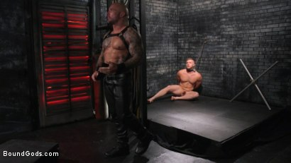 Photo number 3 from Brian Bonds: Locked Down shot for Bound Gods on Kink.com. Featuring Jason Collins  and Brian Bonds in hardcore BDSM & Fetish porn.