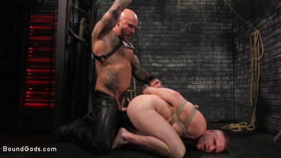 Photo number 27 from Brian Bonds: Locked Down shot for Bound Gods on Kink.com. Featuring Jason Collins  and Brian Bonds in hardcore BDSM & Fetish porn.