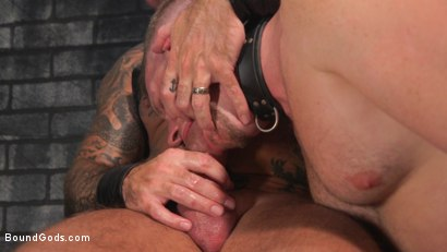 Photo number 37 from Brian Bonds: Locked Down shot for Bound Gods on Kink.com. Featuring Jason Collins  and Brian Bonds in hardcore BDSM & Fetish porn.