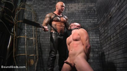 Photo number 6 from Brian Bonds: Locked Down shot for Bound Gods on Kink.com. Featuring Jason Collins  and Brian Bonds in hardcore BDSM & Fetish porn.