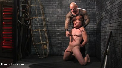 Photo number 10 from Brian Bonds: Locked Down shot for Bound Gods on Kink.com. Featuring Jason Collins  and Brian Bonds in hardcore BDSM & Fetish porn.