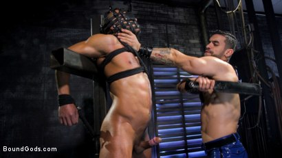 Photo number 15 from Dillon Diaz serves The House shot for Bound Gods on Kink.com. Featuring Arad Winwin and Dillon Diaz in hardcore BDSM & Fetish porn.