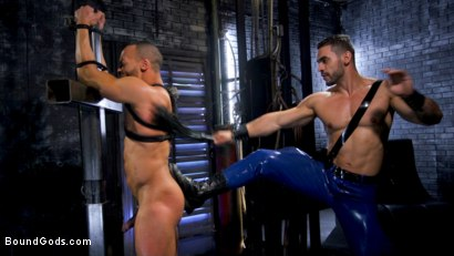 Photo number 3 from Dillon Diaz serves The House shot for Bound Gods on Kink.com. Featuring Arad Winwin and Dillon Diaz in hardcore BDSM & Fetish porn.