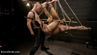 Photo number 2 from Pushing Wesley: Wesley Woods submits to Sebastian Keys shot for Bound Gods on Kink.com. Featuring Sebastian Keys and Wesley Woods in hardcore BDSM & Fetish porn.