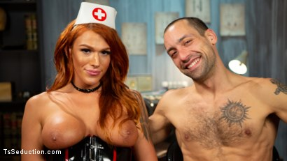 Photo number 16 from Stress Test: Nurse Aspen Brooks Tests Naughty Patient  shot for TS Seduction on Kink.com. Featuring Aspen Brooks and DJ in hardcore BDSM & Fetish porn.