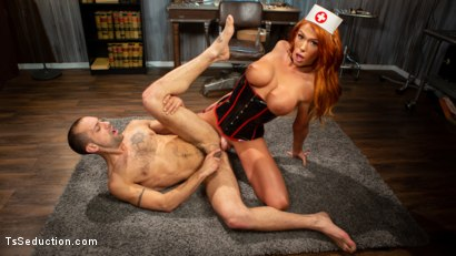 Photo number 1 from Stress Test: Nurse Aspen Brooks Tests Naughty Patient  shot for TS Seduction on Kink.com. Featuring Aspen Brooks and DJ in hardcore BDSM & Fetish porn.