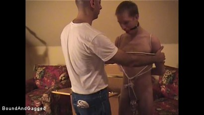 Photo number 6 from Catch a Thief: Slave Training pt. 2 shot for Bound And Gagged on Kink.com. Featuring Tim Taylor and Oskar in hardcore BDSM & Fetish porn.