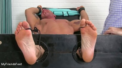 Photo number 10 from Ticklish Braden Humbled shot for My Friends Feet on Kink.com. Featuring Braden Charron in hardcore BDSM & Fetish porn.