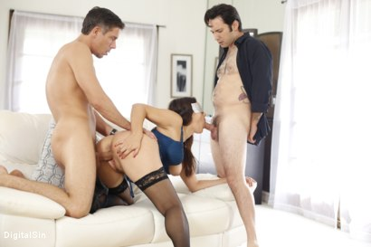 Photo number 14 from Valentina Nappi - A Hotwife Blindfolded #2 shot for Digital Sin on Kink.com. Featuring Valentina Nappi, Tommy Pistol and Mick Blue in hardcore BDSM & Fetish porn.