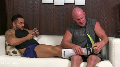 Photo number 2 from Bruno's Feet & Socks Worshiped shot for My Friends Feet on Kink.com. Featuring Bruno Bernal and Dev Michaels in hardcore BDSM & Fetish porn.