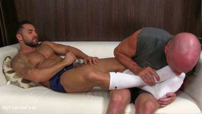 Photo number 9 from Bruno's Feet & Socks Worshiped shot for My Friends Feet on Kink.com. Featuring Bruno Bernal and Dev Michaels in hardcore BDSM & Fetish porn.