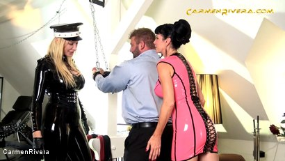 Photo number 9 from Penetrated by Queen Jennifer Carter and Carmen Rivera shot for Carmen Rivera on Kink.com. Featuring Queen Jennifer Carter, Carmen Rivera and Colby Jansen in hardcore BDSM & Fetish porn.