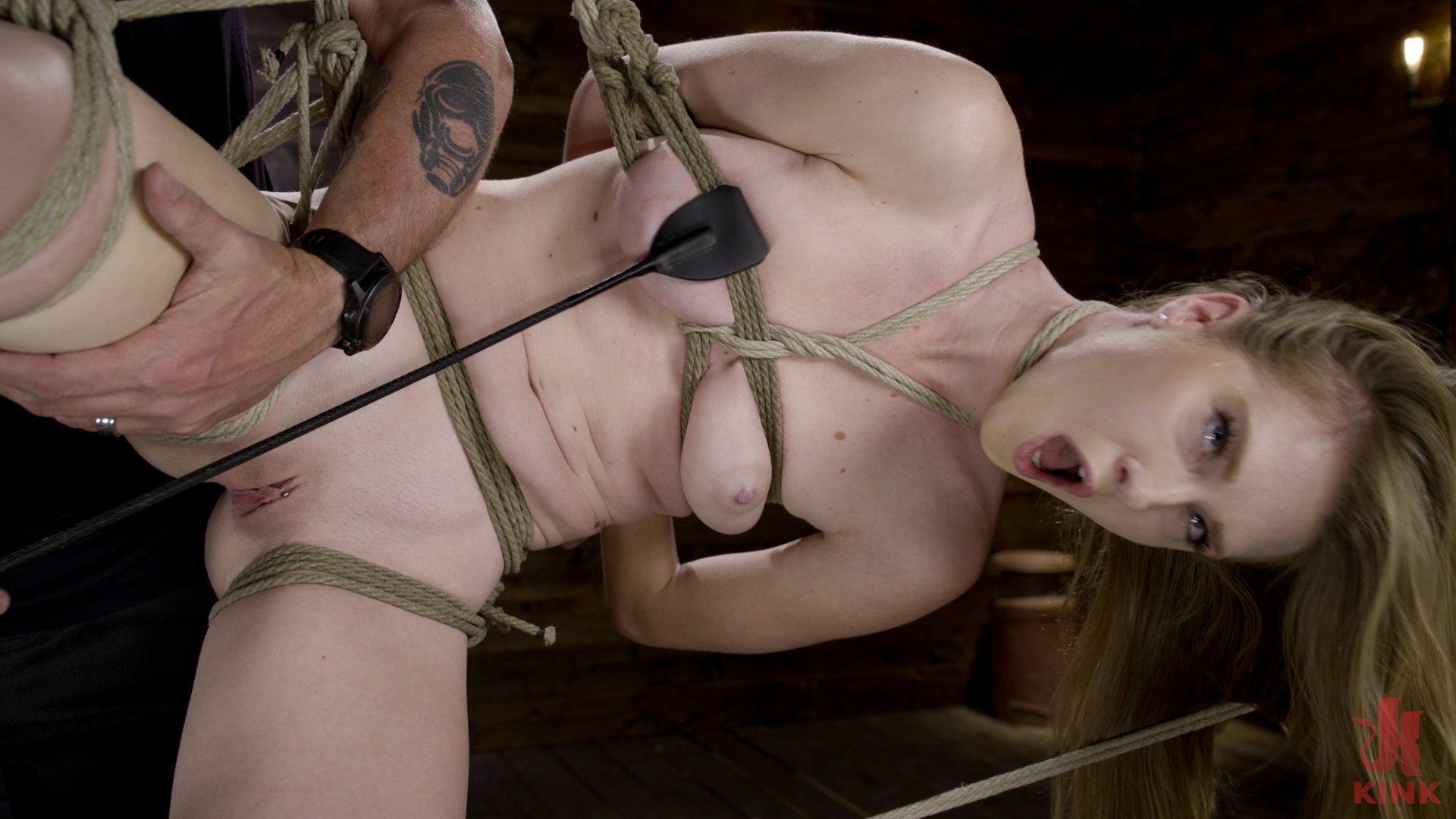 Hardcore Bondage and Domination Makes Ashley Lane A Happy Slut!