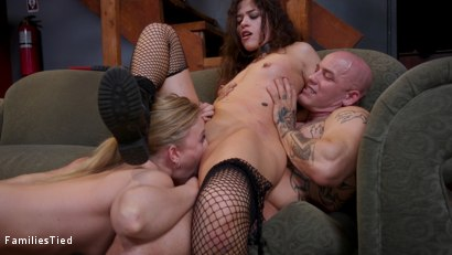 Photo number 36 from Seductive Lesbian Sister-In-Law Fucks The Whole Family shot for  on Kink.com. Featuring Victoria Voxxx, Derrick Pierce and Riley Reyes in hardcore BDSM & Fetish porn.