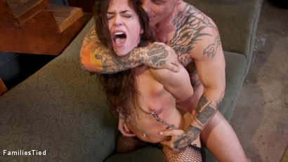 Photo number 10 from Seductive Lesbian Sister-In-Law Fucks The Whole Family shot for  on Kink.com. Featuring Victoria Voxxx, Derrick Pierce and Riley Reyes in hardcore BDSM & Fetish porn.