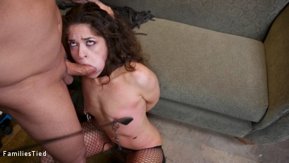 Photo number 4 from Seductive Lesbian Sister-In-Law Fucks The Whole Family shot for  on Kink.com. Featuring Victoria Voxxx, Derrick Pierce and Riley Reyes in hardcore BDSM & Fetish porn.