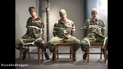 Photo number 3 from Soldiers in the Dungeon: Basic Training shot for Bound And Gagged on Kink.com. Featuring Michael Brandon, Jack Tufts, Leonardo Schiavino and Cameron Knight in hardcore BDSM & Fetish porn.