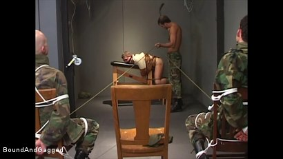 Photo number 13 from Soldiers in the Dungeon: Basic Training shot for Bound And Gagged on Kink.com. Featuring Michael Brandon, Jack Tufts, Leonardo Schiavino and Cameron Knight in hardcore BDSM & Fetish porn.
