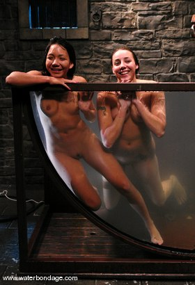 Photo number 15 from A Lively Livefeed With  Delilah Strong & Keeani Lee!  Part 1 of Two shot for Water Bondage on Kink.com. Featuring Keeani Lei and Delilah Strong in hardcore BDSM & Fetish porn.