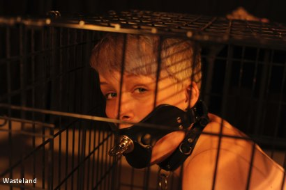 Photo number 4 from Kat in a Cage shot for Wasteland on Kink.com. Featuring Leila Hazlett and Shadrack Stargazer in hardcore BDSM & Fetish porn.