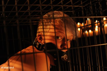Photo number 5 from Kat in a Cage shot for Wasteland on Kink.com. Featuring Leila Hazlett and Shadrack Stargazer in hardcore BDSM & Fetish porn.
