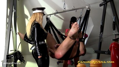 Photo number 7 from Penetrated by Queen Jennifer Carter and Carmen Rivera: We Give a Fuck shot for Carmen Rivera on Kink.com. Featuring Carmen Rivera, Queen Jennifer Carter and Colby Jansen in hardcore BDSM & Fetish porn.