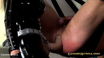 Photo number 9 from Penetrated by Queen Jennifer Carter and Carmen Rivera: We Give a Fuck shot for Carmen Rivera on Kink.com. Featuring Carmen Rivera, Queen Jennifer Carter and Colby Jansen in hardcore BDSM & Fetish porn.