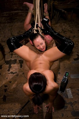 Photo number 13 from Julie Night shot for Wired Pussy on Kink.com. Featuring Sandra Romain and Julie Night in hardcore BDSM & Fetish porn.