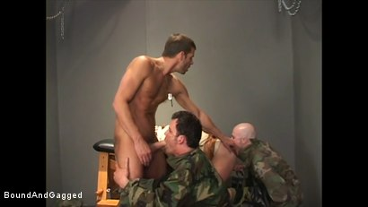 Photo number 11 from Soldier in the Dungeon: Advanced Training shot for Bound And Gagged on Kink.com. Featuring Michael Brandon, Jack Tufts, Leonardo Schiavino and Cameron Knight in hardcore BDSM & Fetish porn.