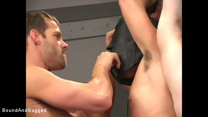 Photo number 18 from Soldier in the Dungeon: Advanced Training shot for Bound And Gagged on Kink.com. Featuring Michael Brandon, Jack Tufts, Leonardo Schiavino and Cameron Knight in hardcore BDSM & Fetish porn.