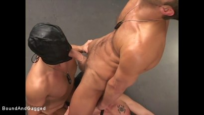 Photo number 20 from Soldier in the Dungeon: Advanced Training shot for Bound And Gagged on Kink.com. Featuring Michael Brandon, Jack Tufts, Leonardo Schiavino and Cameron Knight in hardcore BDSM & Fetish porn.