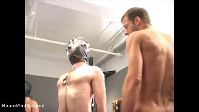 Photo number 22 from Soldier in the Dungeon: Advanced Training shot for Bound And Gagged on Kink.com. Featuring Michael Brandon, Jack Tufts, Leonardo Schiavino and Cameron Knight in hardcore BDSM & Fetish porn.
