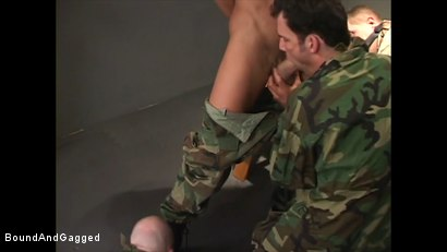 Photo number 9 from Soldier in the Dungeon: Advanced Training shot for Bound And Gagged on Kink.com. Featuring Michael Brandon, Jack Tufts, Leonardo Schiavino and Cameron Knight in hardcore BDSM & Fetish porn.