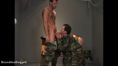 Photo number 8 from Soldier in the Dungeon: Advanced Training shot for Bound And Gagged on Kink.com. Featuring Michael Brandon, Jack Tufts, Leonardo Schiavino and Cameron Knight in hardcore BDSM & Fetish porn.